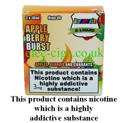 Apple Berry Burst 3 x 10 ML E-Juice by Amazonia showing its packaging