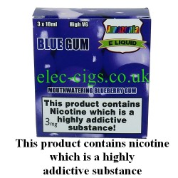 Blue Gum 3 x 10 ML E-Juice by Amazonia: showing its packaging