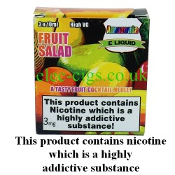 Fruit Salad 3 x 10 ml E-Juice by Amazonia showing its packaging