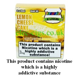 Lemon Cheese Cake 3 x 10 ml E-Juice by Amazonia showing its packaging