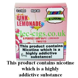 Pink Lemonade 30 ml E-Juice by Amazonia showing its packaging