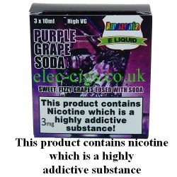 Purple Grape Soda 30 ml E-Juice by Amazonia showing its packaging