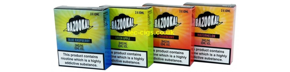 The 4 flavours of Bazooka 3 x 10 ML E-Juice