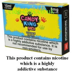 a box of Batch 5 x 10 ML E-Juice by Candy King