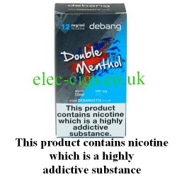 Double Menthol UK Made E-Liquid from Debang in its new retail box