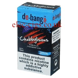 the box with the 10 ml bottle of Chubbylisious E-Juice from Debang
