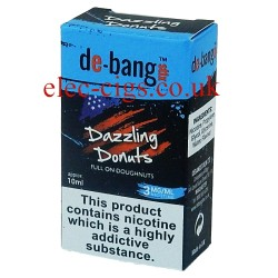 the box with the 10 ml bottle of Dazzling Donuts E-Juice from Debang