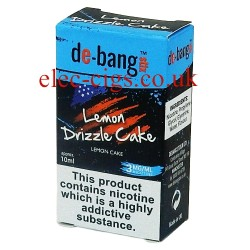 the box with the 10 ml bottle of Lemon Drizzle Cake E-Juice from Debang