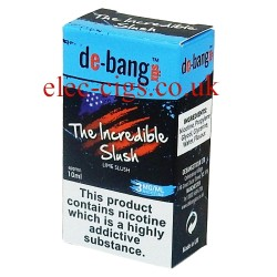 the box with the 10 ml bottle of The Incredible Slush E-Juice from Debang