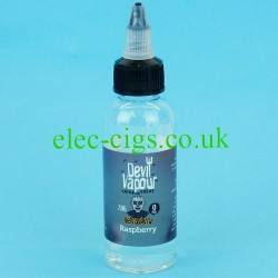a bottle of Hellrasierry 50 ML E Juice from Devil Vapour