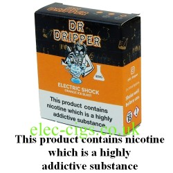 a box of Electric Shock E Juice from Dr Dripper Low Mint Series