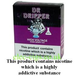 a box of High Voltage E Juice from Dr Dripper Low Mint Series