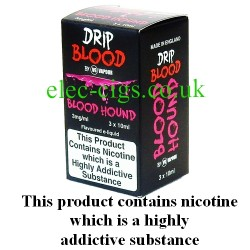 Blood Hound  E-Juice from Drip Blood showing the outer packaging of this great e-juice