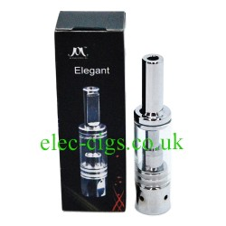 Showing the box and an Elegant 5 Atomizer on a white background