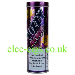 a tin of Fizzy Grape E-Juice 60 ML (6 x 10 ML) from Fizzy Juice