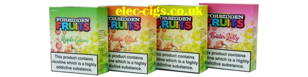 4 packs of Forbidden Fruits 3 x 10 ML, 70-30 (VG/PG) E-Liquid