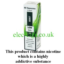 showing one box of HS VapourMX Premium E-Liquid: Mint on white background