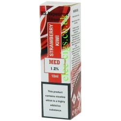 showing one box of HS VapourMX Premium E-Liquid: Strawberry Kiwi on white background