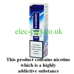 showing one box of HS VapourMX Premium E-Liquid: Blackberry on white background