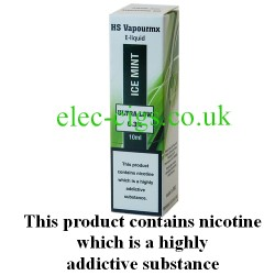 showing one box of HS VapourMX Premium E-Liquid: Ice Mint on white background
