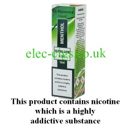 showing one box of HS VapourMX Premium E-Liquid: Menthol on white background