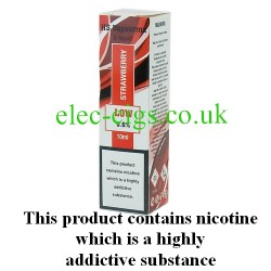 showing one box of HS VapourMX Premium E-Liquid: Strawberry on white background
