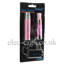 Blister pack containing a vapourmx e-cigarette in pink