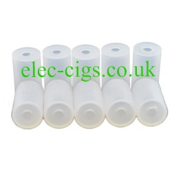 showing the ten Hygienic Mouthpiece Covers for E-Cigs