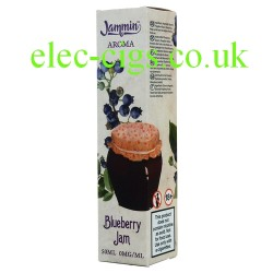 a bottle of Blueberry Jam 50 ML E-Juice from Jammin