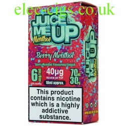 a box of Juice Me Up: Berry Menthol Flavour E-Juice