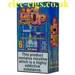 a box of Juice Me Up: Blueberry Grape Fruity Flavour E-Juice