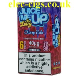 a box of Juice Me Up: Cherry Cola Ice Lolly Flavour E-Juice