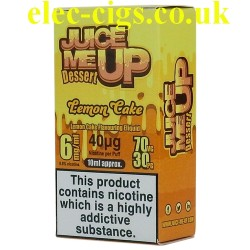 a box of Juice Me Up: Lemon Cake Dessert Flavour E-Juice