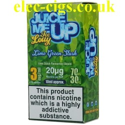 a box of Juice Me Up: Lime Green Slush Ice Lolly Flavour E-Juice