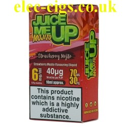 a box of Juice Me Up: Strawberry Mojito Flavour E-Juice
