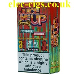 a box of Juice Me Up: Watermelon Strawberry Fruity Flavour E-Juice