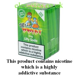a box of Lilty Soda E-Juice 40 ML by Mr Wonky