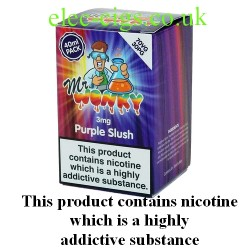 a box of Purple Slush E-Juice 40 ML by Mr Wonky