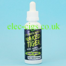 a bottle of  Grape Apple Naked Tiger E-Juice 60 ML