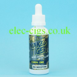 a bottle of  Lemon Lime Naked Tiger E-Juice 60 ML