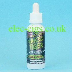 a bottle of  Mango Lychee Naked Tiger E-Juice 60 ML