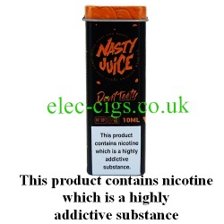 the attractive packaging of Devil Teeth 10 ML E-Juice from Nasty Juice
