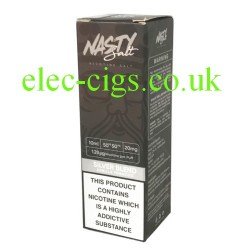 a box of Silver Blend High Nicotine E-Liquid by Nasty Juice