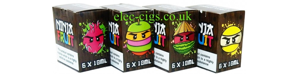 all of the Ninja Fruit 6 x 10 ML E-Juices