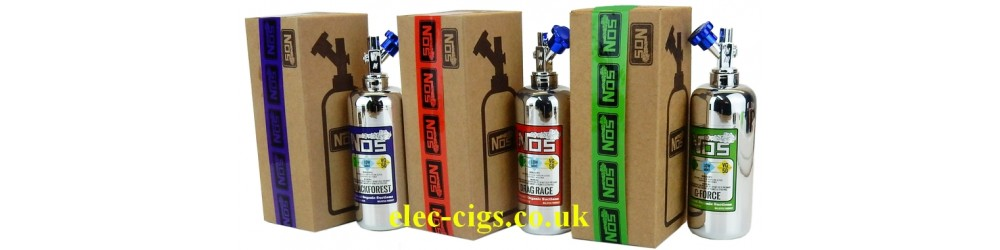 The full range of NOS Low Mint E-Juice