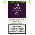 Blackcurrant Menthol High Nicotine E-Liquid by Pod-Salt