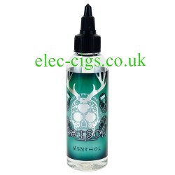 an 80 ML bottle of Poison: Menthol Zero Nicotine 50-50 (VG/PG) E-Juice