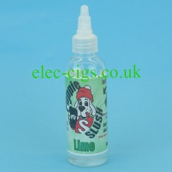 A bottle of Puppie Slush 80 ML E-Juice: Lime