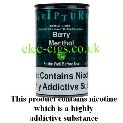 an image of a bottle of Berry Menthol 30 ML E-Liquid 50-50 (VG/PG)
