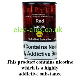 an image of a bottle of Red Laces 30 ML E-Liquid 50-50 (VG/PG)